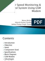 Motor speed monitoring control system & gsm modem.pptx