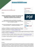 Prácticas Educativas y Creencias de Profesores de Secundaria Pertenecientes a Escuelas de Diferentes-2 (1)