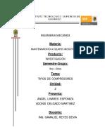 Tipos de Compresores Unidad 2 TERMINADO