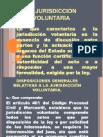 jurisdicción voluntaria.