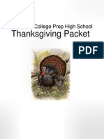 KIPP NYCCP - Thanksgiving Work Packet