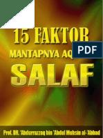 15 Faktor Mantapnya Aqidah Salaf (Syaikh 'Abdurrazzaq al-Badr)