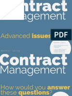Advanced Contract Management Issues