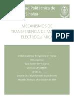 Mecanismos de Trasferencia de Masa en Electroquimica