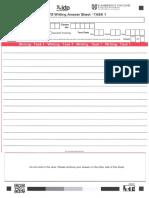 Writing Answer Sheet 2 Tasks IDP