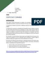 Costo Fijo y Variable - Ensayo Grupal