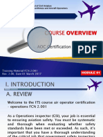 Overview Air Operator Certificate (AOC) Certification Process