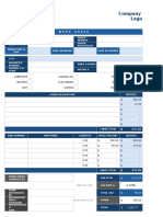 IC Automotive Work Order Template