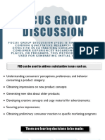 Focus Group Discussion 1