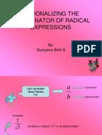 RATIONALIZING THE DENOMINATOR OF RADICAL EXPRESSIONS.pptx