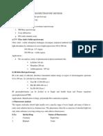 Spectroscopy & Chromatography