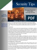 2015 10 Newsletter Malware