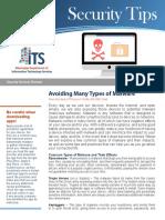2018_9_Newsletter_Avoiding Many Types of Malware