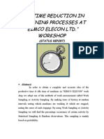 Idle Time Reduction in Machining Processes At