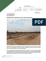 Drieziek Public Transport Facility Nears Completion Final