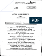 UPSC IES 2009 Civil Engg Paper 1 Descriptive (Conventional) Type Question Paper