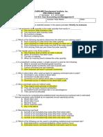 Cost Accounting Pre-Finals Examination