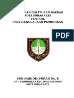 Cover Rancangan Peraturan Daerah Kota Surakarta