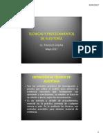 Tecnicas y Procedimientos de Auditoría