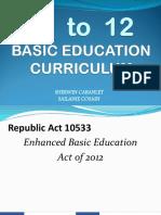 K T0 12 Basic Education Curriculum