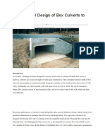 Loading and Design of Box Culverts to Eurocodes