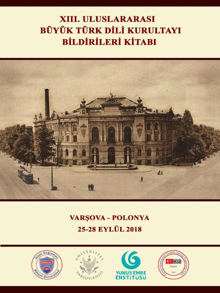 13 Uluslararasi Buyuk Dil Kurultayi Kitabi Varsova 2018