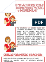 The Teacher's Role in Promoting Music & Movement