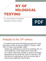 History of Psychological Testing 2