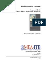 The Capital Budgeting Decision_BookSummary