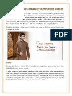 Style Kurta Pajama Elegantly in Minimum Budget-converted