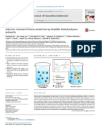 Selective removal of heavy metal ions by dilsulfide linked polymer