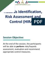 HIRAC Risk Assessment