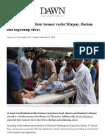 Mirpur Earthquake- dawn News Report