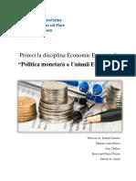 Proiect La Disciplina Economie Europeană