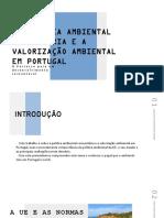 A Política ambiental comunitária e a valorização ambiental em Portugal
