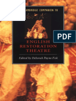 Cambridge Companion to Restoration-Theatre