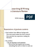 Grad Workshop Lit Review Spr11