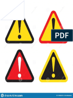 Signe de Danger Panneau d Avertissement Attention Icône