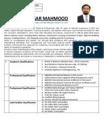 Ansar Mahmood HSE CV