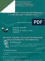 Medidas Terapêuticas e Comunicação Terapêutica [04!03!08]