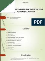 CERAMIC MEMBRANE DISTILLATION FOR DESALINATION [Autosaved].pptx