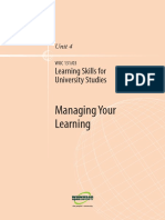 Learning Skills for Uni Studies U4