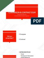 3. Comparison Contrast Essay