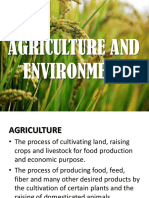 Agriculture and Environment