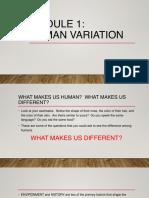 Module 1 Human Variation 1