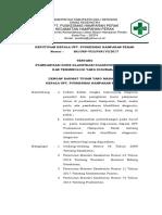 SK Tentang Standarisasi Kode Klasifikasi Diagnosis an Terminologi