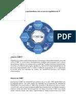 Que Es COBIT e ITIL y Que Beneficios Trae Su Uso en El Gobierno de TI