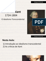 Kant - o Idealismo Transcendental
