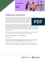 Hablemos de Género en PDF