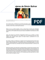 Las mujeres de Simón Bolívar,